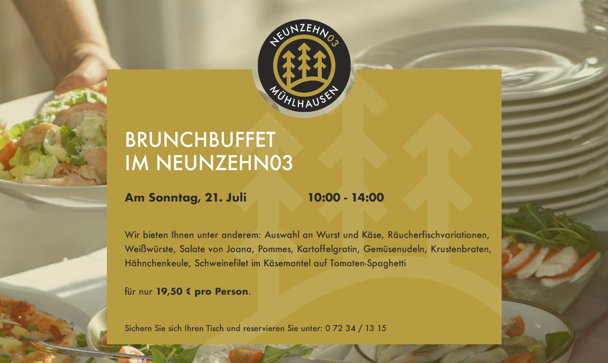 Brunchbuffet im NEUNZEHN03