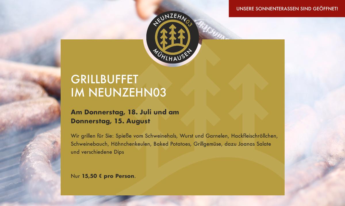 Grillbuffet im NEUNZEHN03